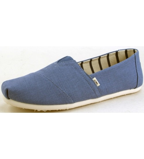 Toms Classic Infinity Blue Heritage Mens Canvas Espadrilles Shoes