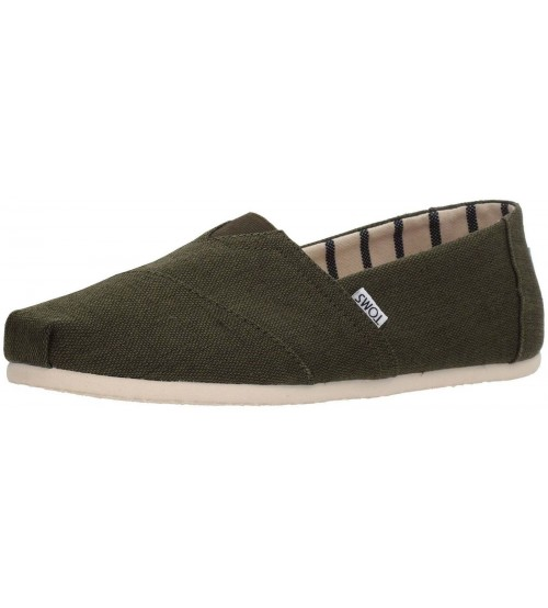 Toms Classic Pine Heritage Mens Canvas Espadrilles Shoes