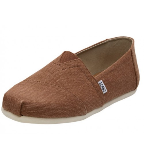 Toms Classic Rust Washed Canvas Mens Espadrille Shoes
