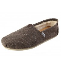 Toms Classic Brown Shearling Mens Espadrilles Shoes