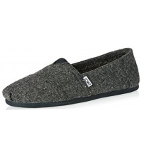 Toms Classic Charcoal Shearling Mens Espadrilles Shoes