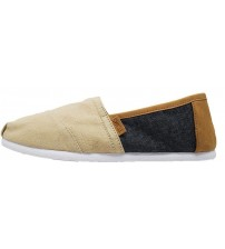 Toms Classic Beige Denim Mens Canvas Espadrille Shoes