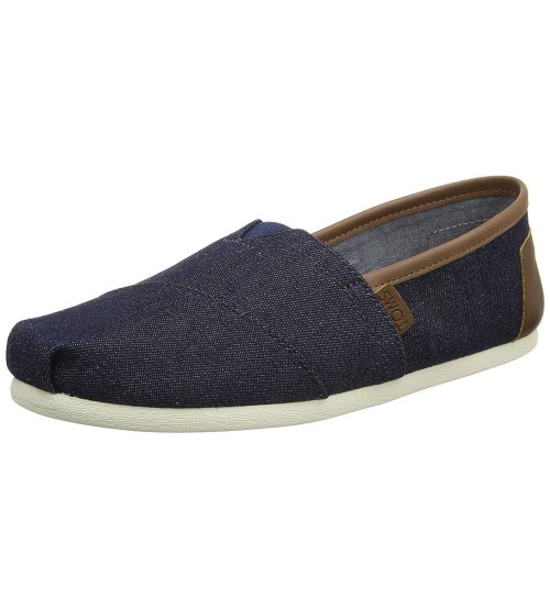 Toms Classic Dark Denim Trim Mens Espadrilles Shoes Slipons