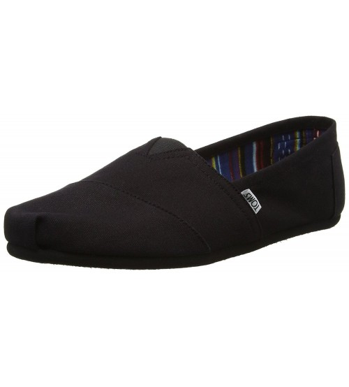 Toms Classic Black Black Canvas Espadrilles Shoes Slipons