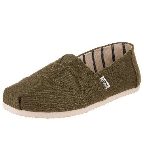 Toms Classic Military Olive Heritage Mens Espadrilles Shoes Slipons
