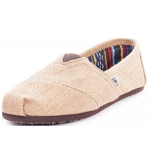 Toms Classic Natural Burlap Mens Canvas Espadrilles Shoes Slipons