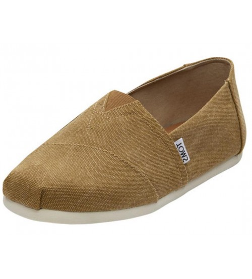 Toms Classic Toffee Washed Canvas Mens Espadrille Shoes