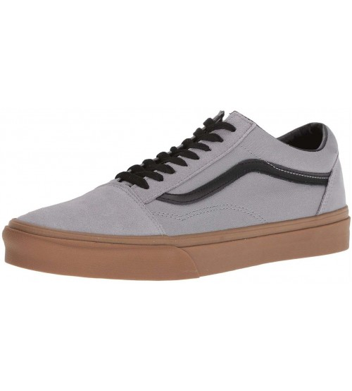 Vans Old Skool Grey Gum Mens Suede Skate Trainers