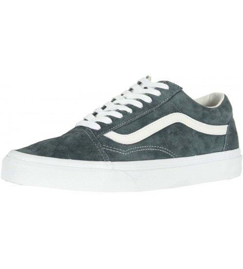 Vans Old Skool Grey White Suede Mens Skate Trainers