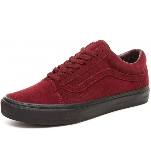 Vans Old Skool Maroon White Mens Suede Skate Trainers