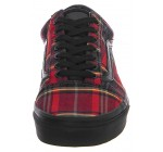 Vans Old Skool Plaid Mix Red Black Mens Skate Trainers