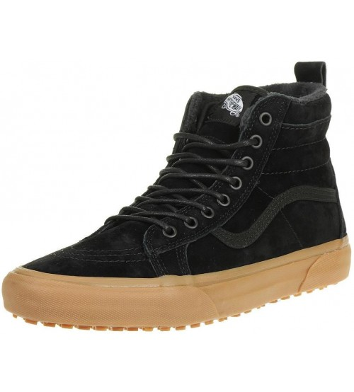 Vans SK8 Hi MTE Black Gum Mens Leather Skate Trainers