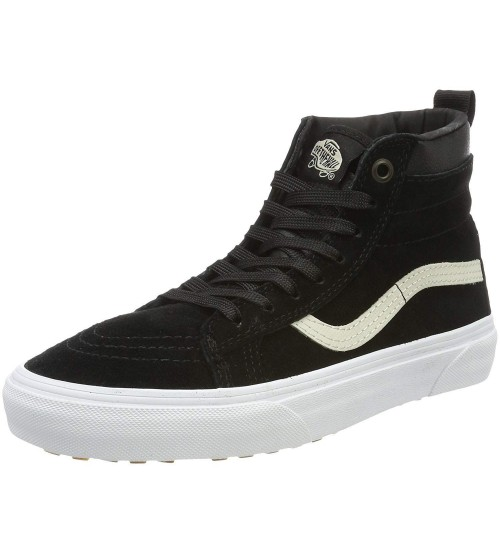 74db93bb5d Vans SK8 Hi MTE Black White Mens Suede Skate Trainers