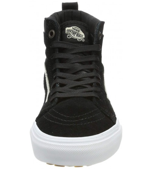 c63f6c63b65c7a Vans SK8 Hi MTE Black White Mens Suede Skate Trainers