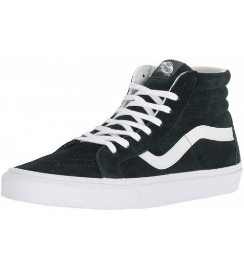 Vans SK8 Hi Sea Green White Mens Suede Skate Trainers