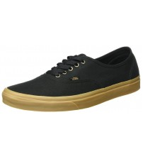 Vans Authentic Black Gum Mens Canvas Skate Trainers