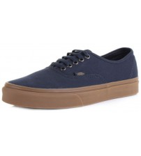 Vans Authentic Navy Gum Mens Canvas Skate Trainers