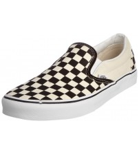 Vans Classic White Black Check Canvas Unisex Slip-on Trainers Shoes