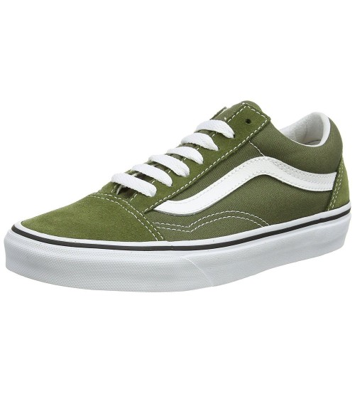 Vans Old Skool Khaki White Mens Suede Skate Trainers