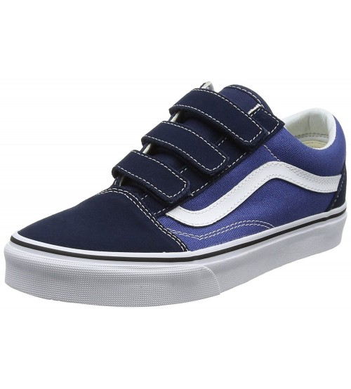 Vans Old Skool V Navy White Mens Suede Skate Trainers