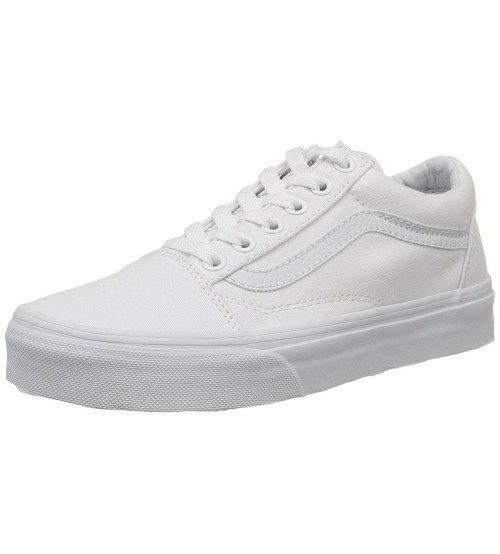 Vans Old Skool White Canvas Unisex Trainers Shoes