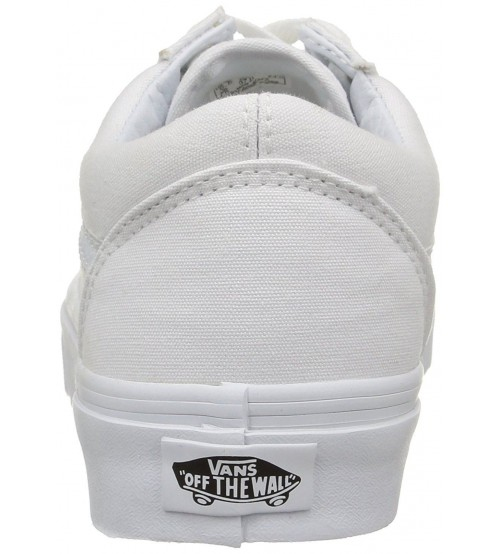05b5f744e1 Vans Old Skool White Canvas Unisex Trainers Shoes