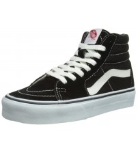 Vans SK8 Hi Black White Red Suede Unisex Trainers Shoes