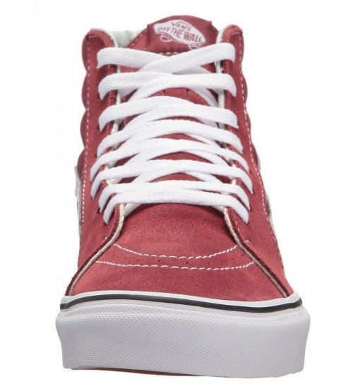 7f4f401348 Vans SK8 Hi Maroon White Suede Unisex Trainers Boots