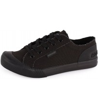 Rocket Dog Jazzin Black Black Women Canvas Trainers
