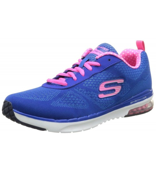 Skechers Skech-Air Infinity Blue Pink White Womens Trainers Shoes