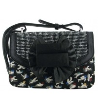 Irregular Choice Hook Line & Sinker Black Multi Women Hand Bag
