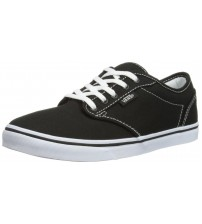 Vans Atwood Low Black White Women Canvas Trainers