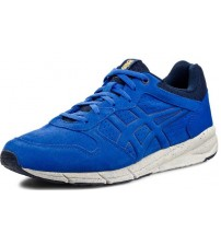 Onitsuka Tiger Shaw Runner Blue White Suede Men Trainers