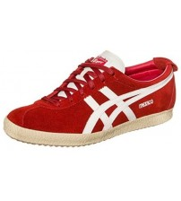 Onitsuka Tiger Mexico Delegation Red White Suede Mens Trainers Shoes