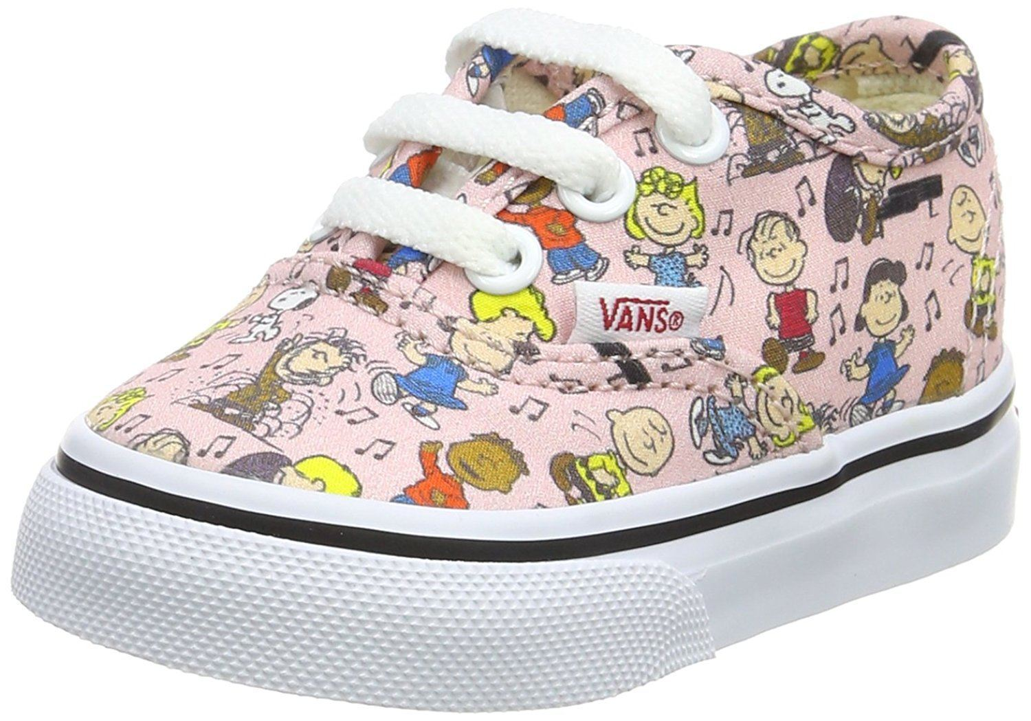 5fcb86e016 Vans X Peanuts Authentic Dance Party Pink Toddlers Trainers Quick View