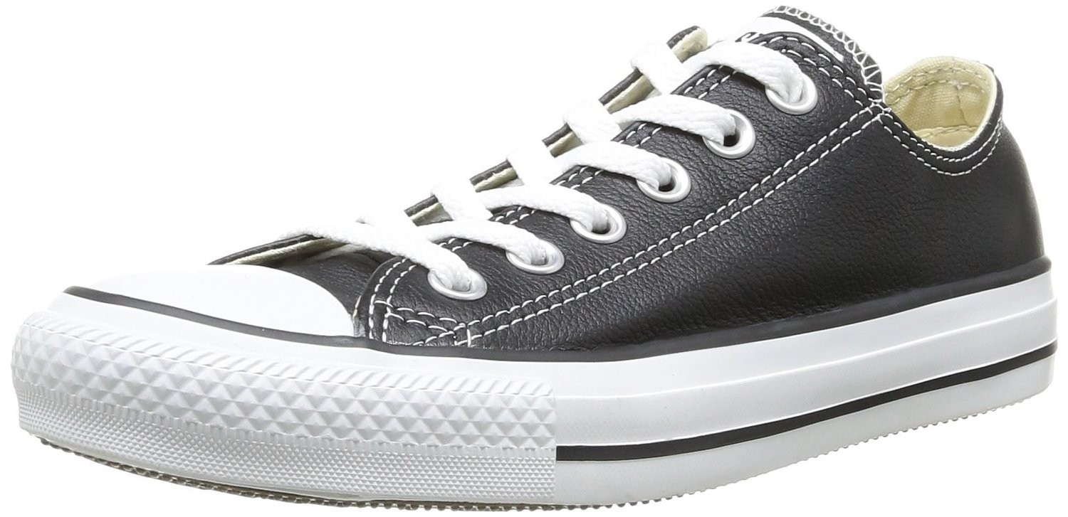 7760062faa1c Converse Chuck Taylor All Star Black White Lo Unisex Leather Trainer Quick  View