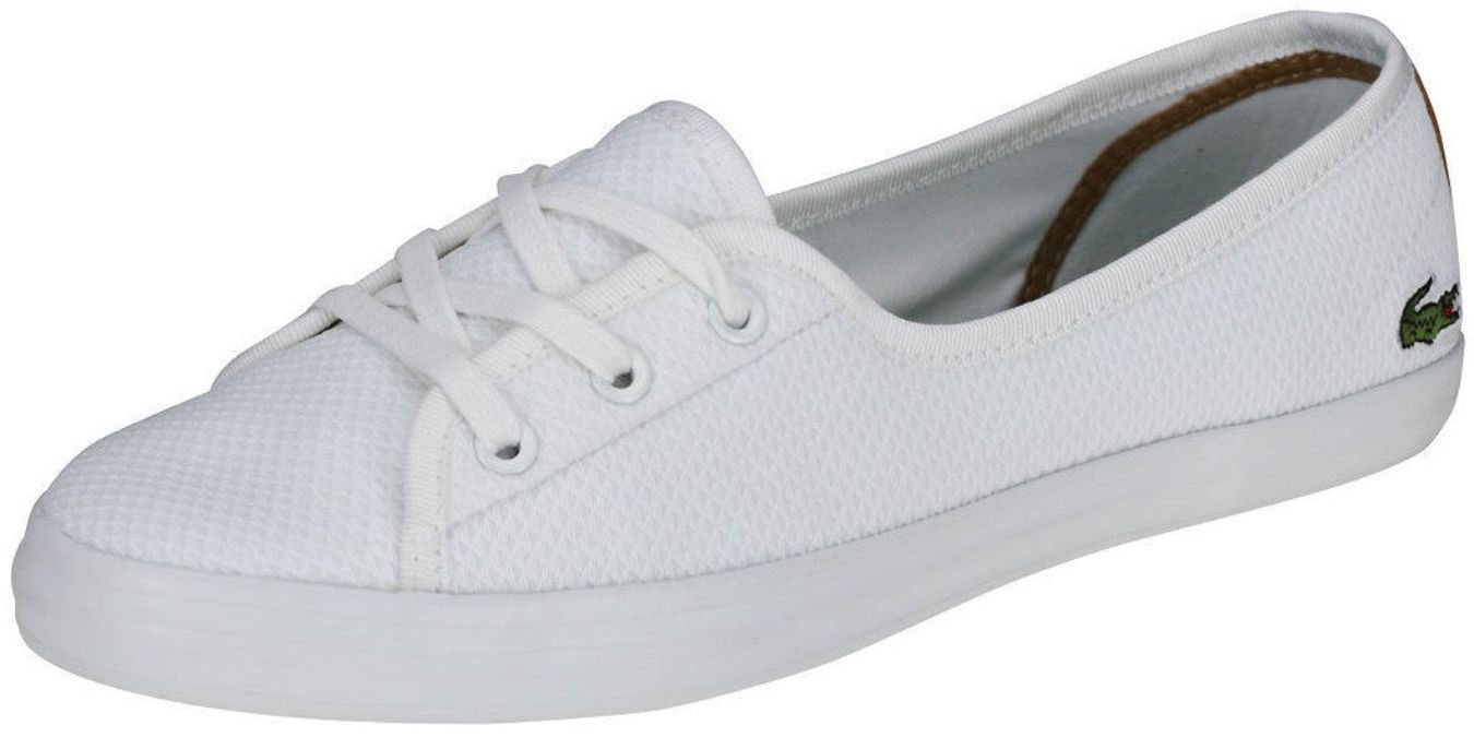 90b82a41c Lacoste Ziane Chunky White Canvas Womens Trainers Quick View