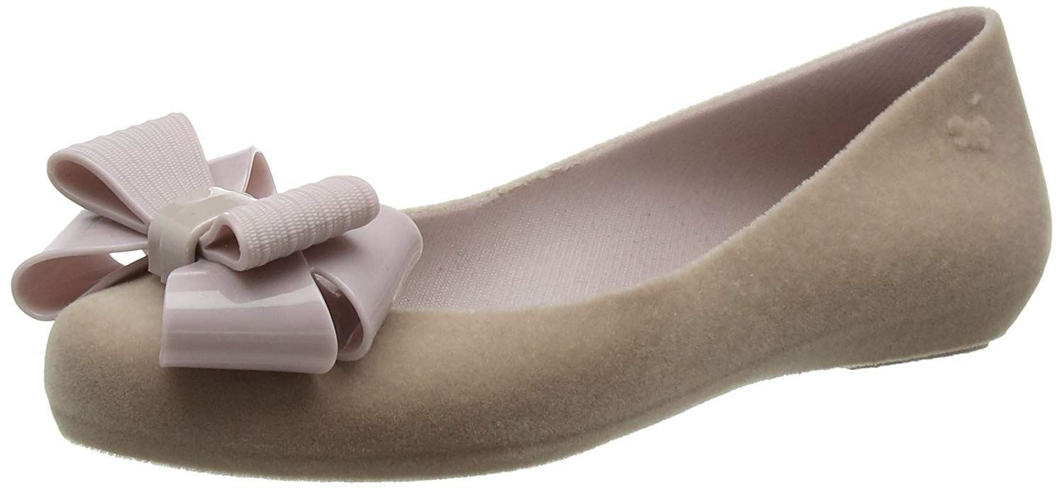 c29cac687e86 Zaxy Pop Flock Bow Luxe Mink Womens Ballerinas Flats Shoes Quick View