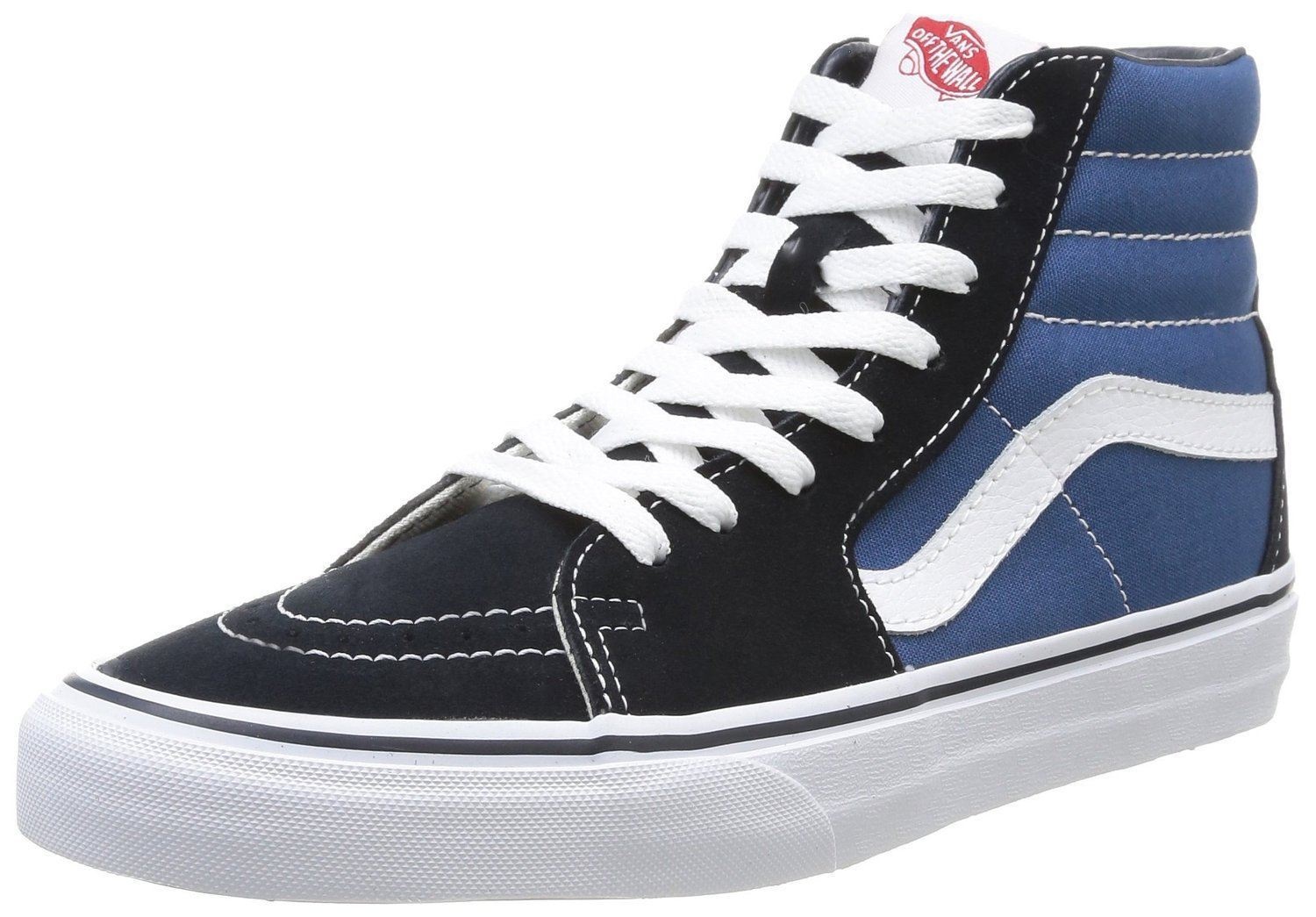Vans SK8 Hi Navy White Red Suede Unisex Trainers Shoes Quick View 5ecf65d05000